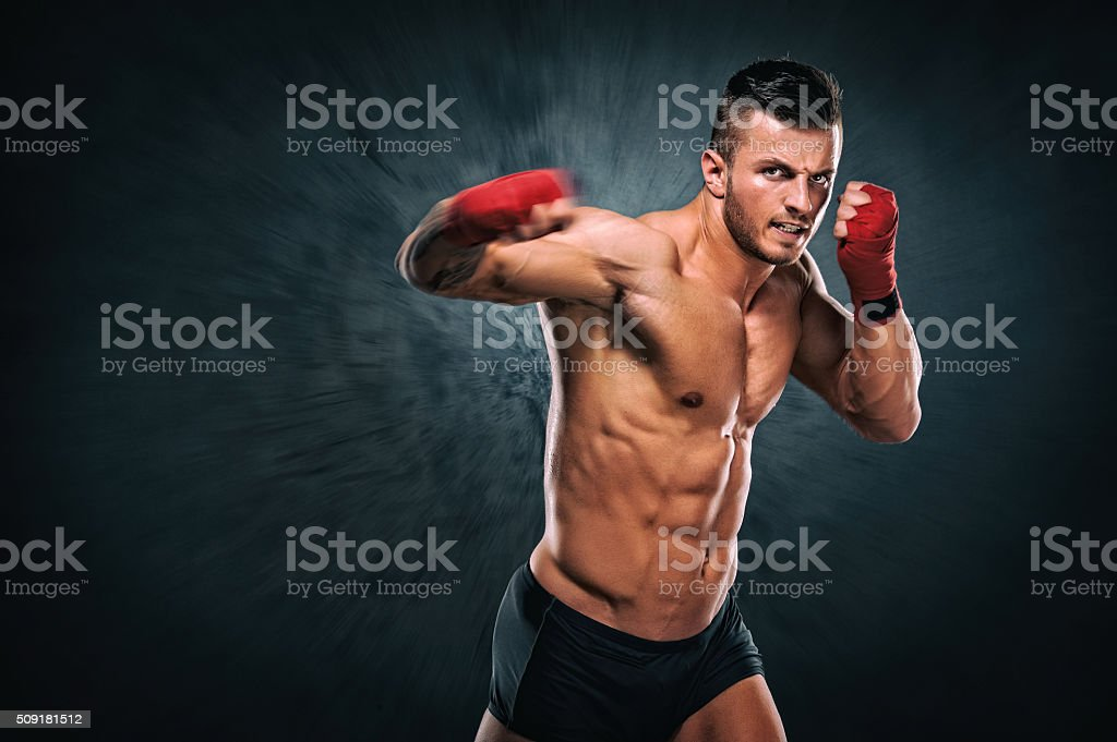 Knockout stock photo