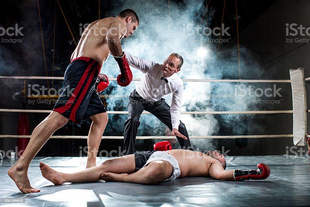 Knockout! stock photo