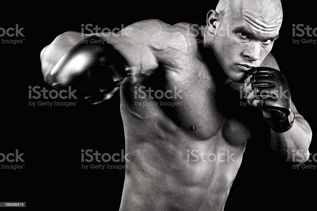 Knockout power royalty-free stock photo