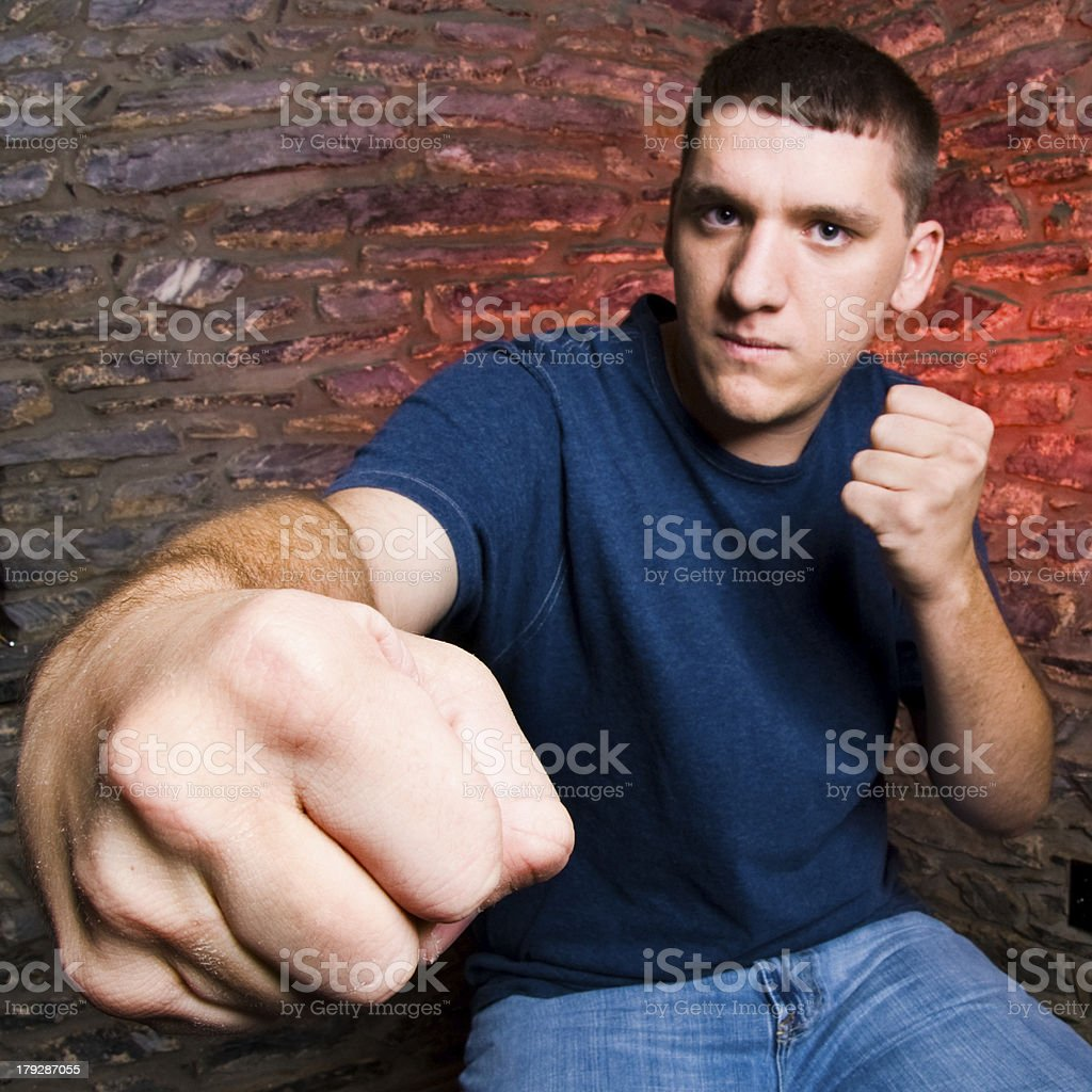 Knockout Punch stock photo