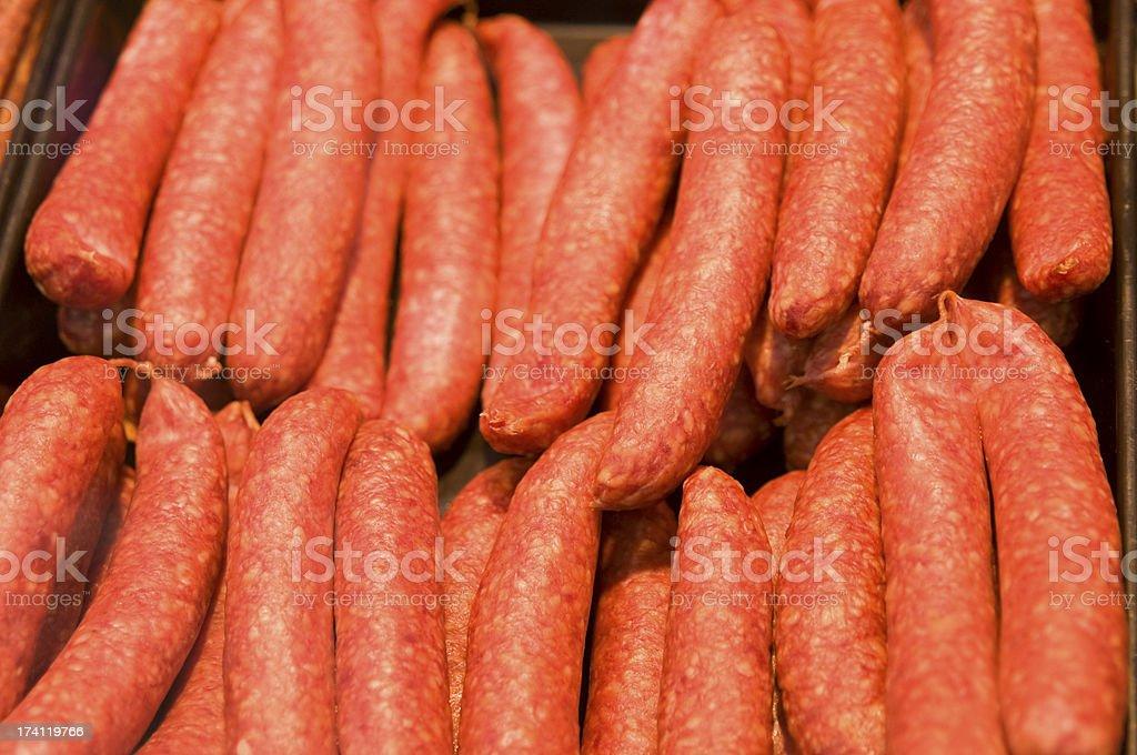 Knockwurst, Fresh smoked sausage stock photo