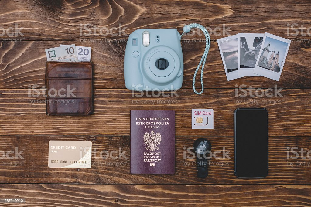 Knolling concept stock photo