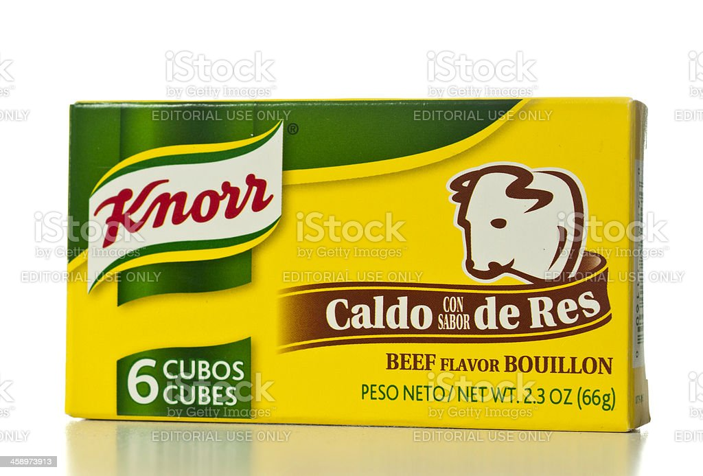 Knorr Beef Flavor Bouillon Cubes box stock photo