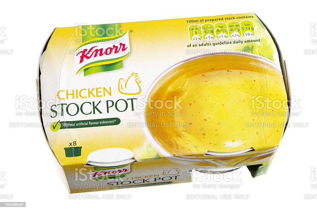 Knorr Chicken Stock Pot Packaging stock photo