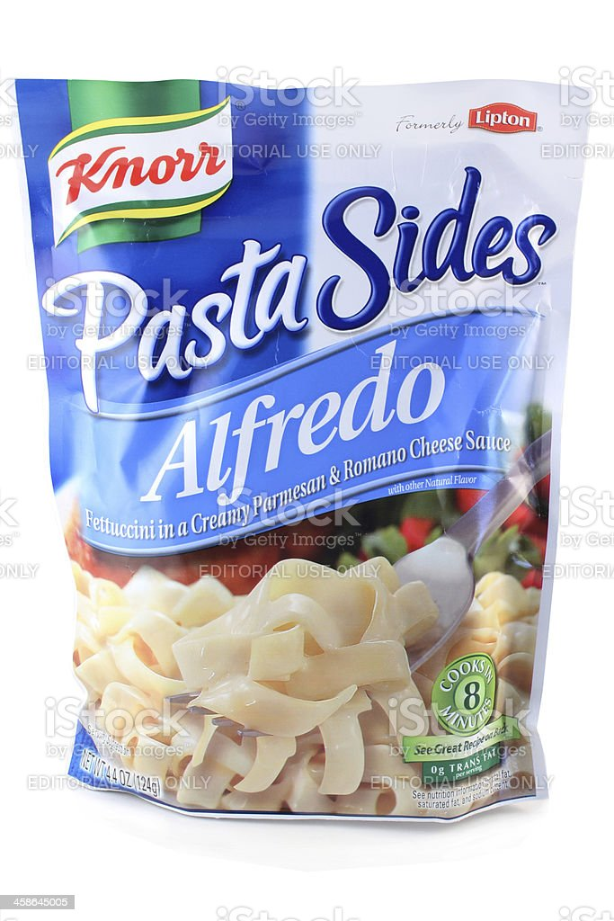 Knorr Fettuccini Alfredo stock photo