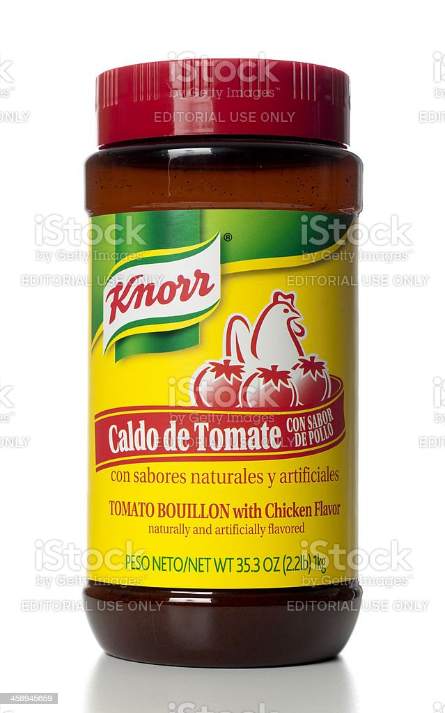 Knorr Tomato Bouillon with Chicken Flavor stock photo