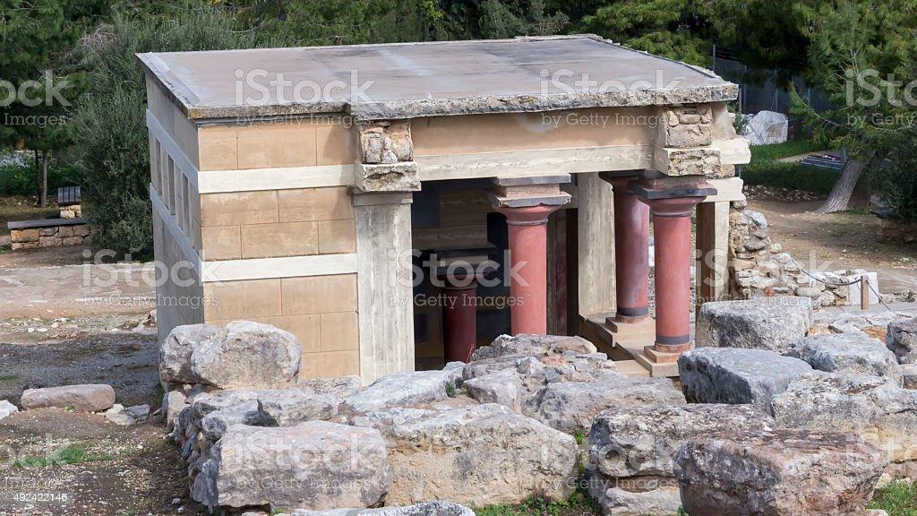 Knossos palace at Crete, Greece. Knossos Palace stock photo