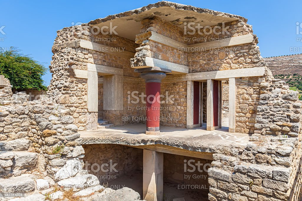 Knossos palace at Crete, Greece stock photo