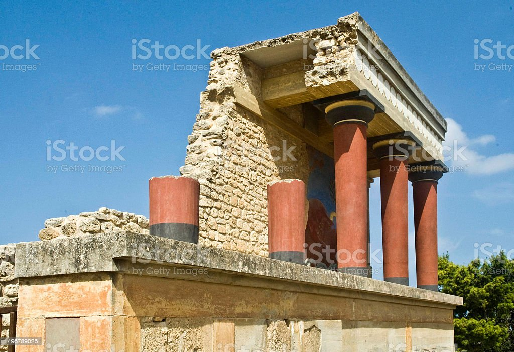 Knossos palace at Crete stock photo