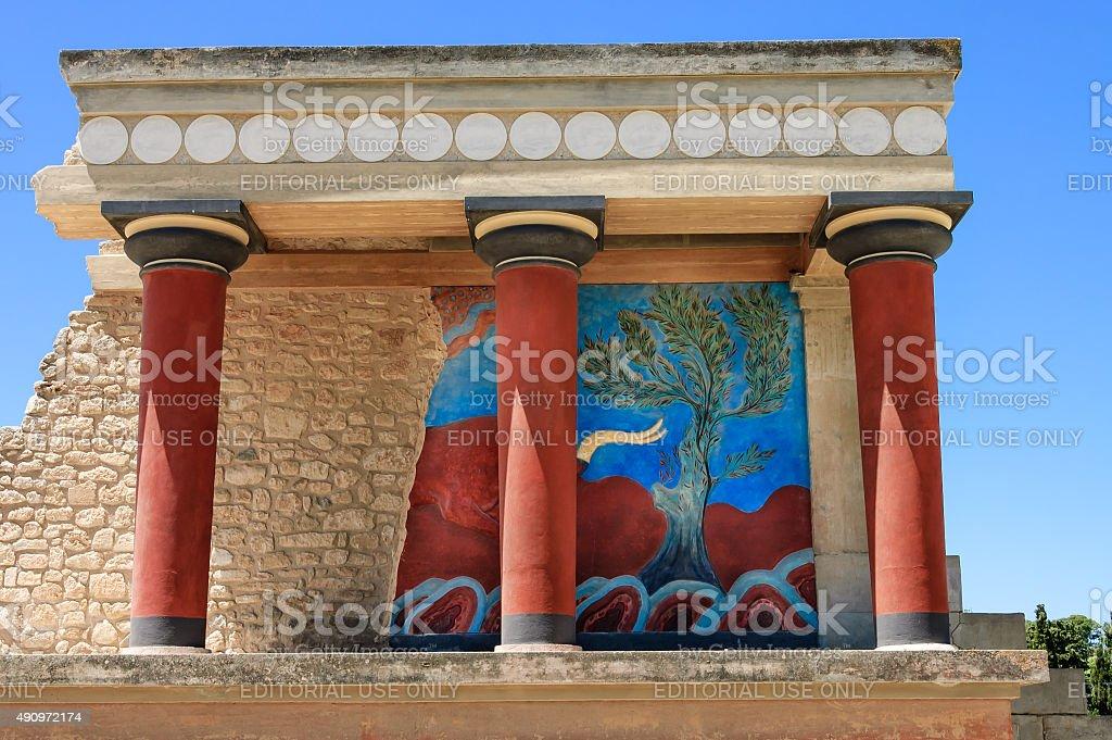 Knossos palace, close view stock photo
