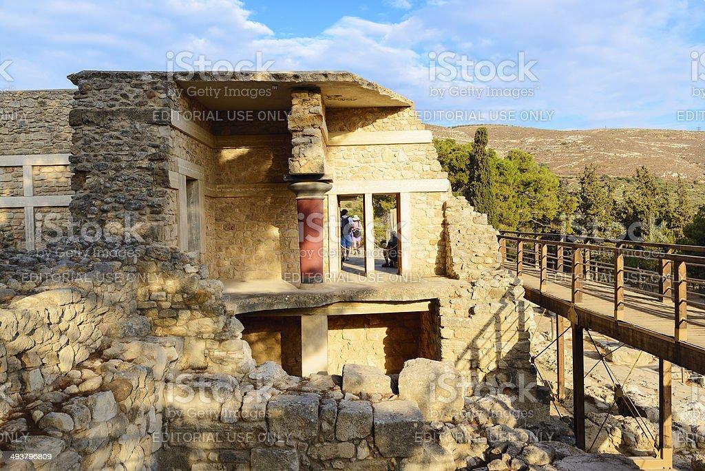 Knossos palace. Crete, Greece stock photo
