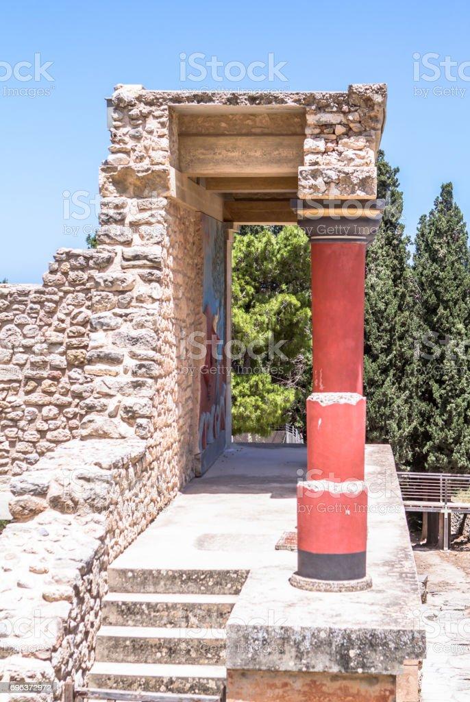 Knossos palace, Crete, Greece stock photo