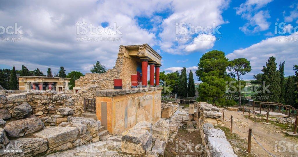 Knossos palace, Crete stock photo