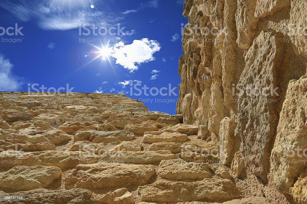 Knossos palace Heraklion at Crete Island, Greece stock photo