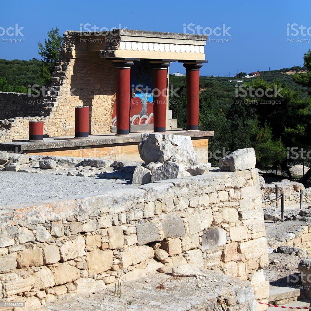 Knossos Palace Ruins, Heraklion Crete stock photo