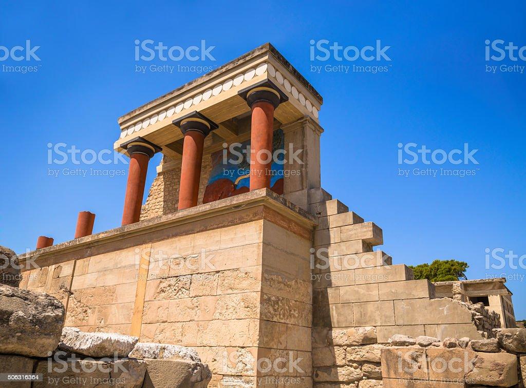 Knossos Palace ruins stock photo