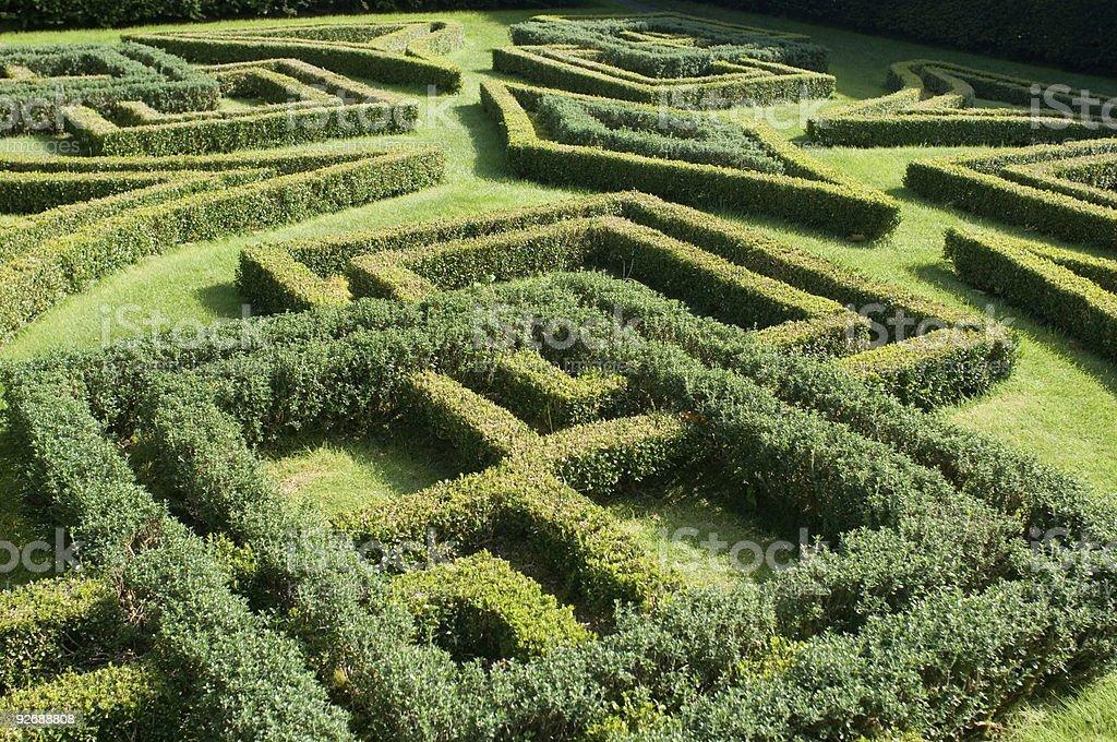 Knot Garden, Antony House stock photo