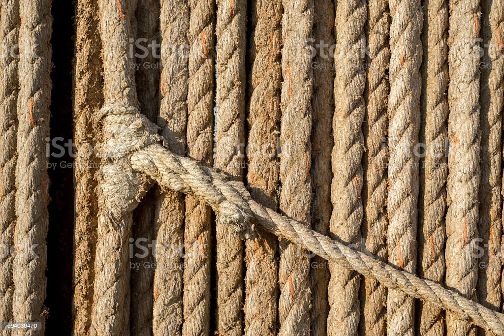 Knot in Rope stock photo