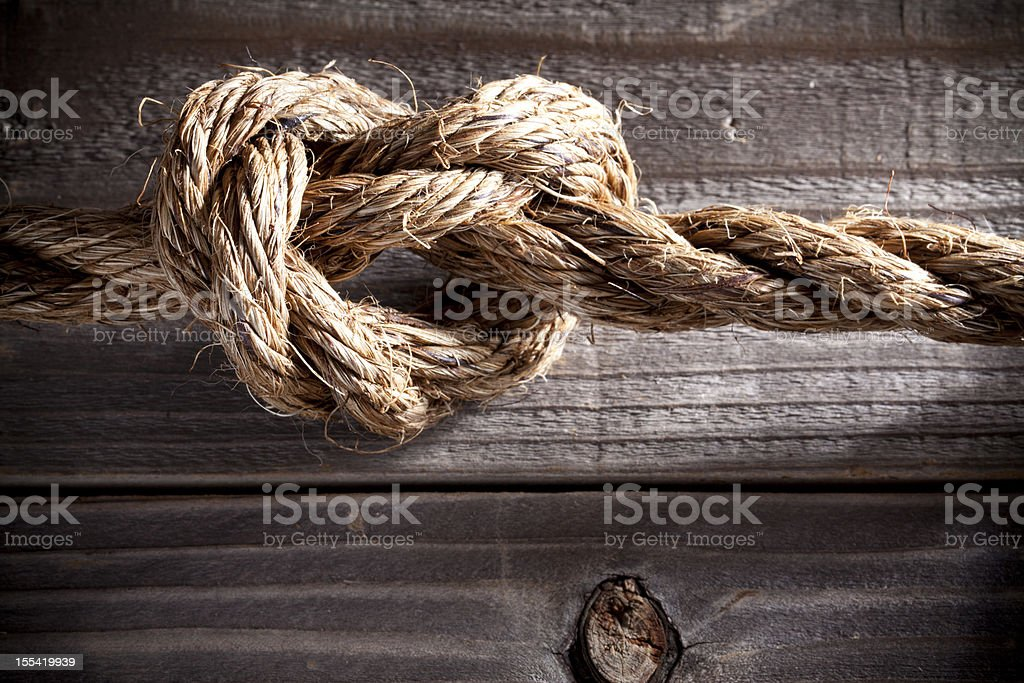 Knot. Love. Tension. stock photo