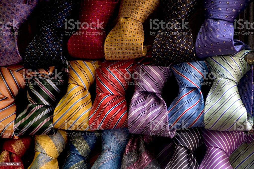 Knot Neckties Collection stock photo