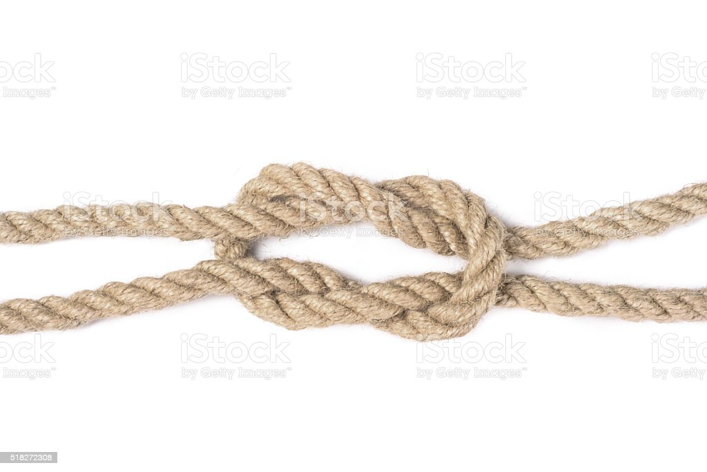 knot of rope stock photo