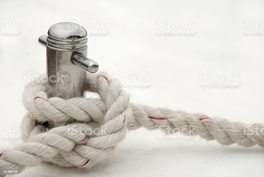 Knot of the mooring line royalty-free stock photo