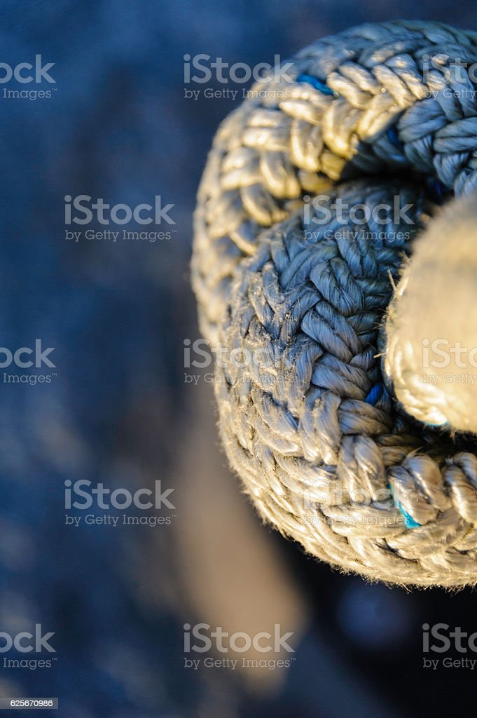 Knot rope coil stock photo