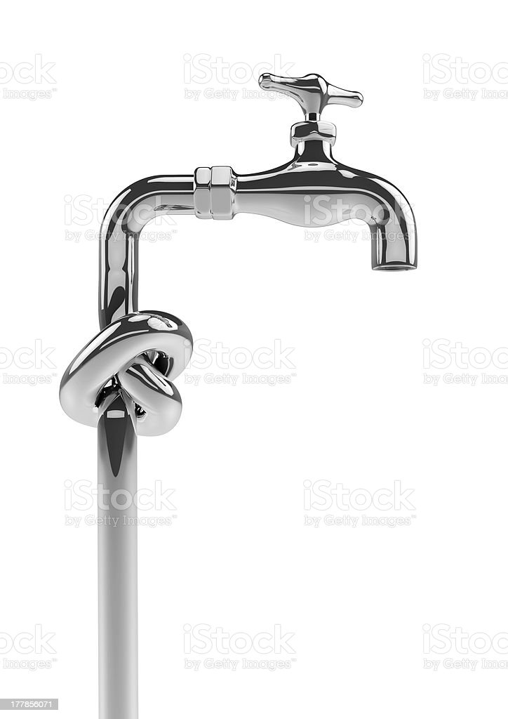 Knot tap royalty-free stock photo