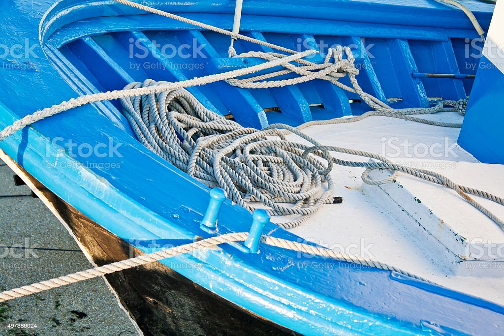 Knots and ropes stock photo