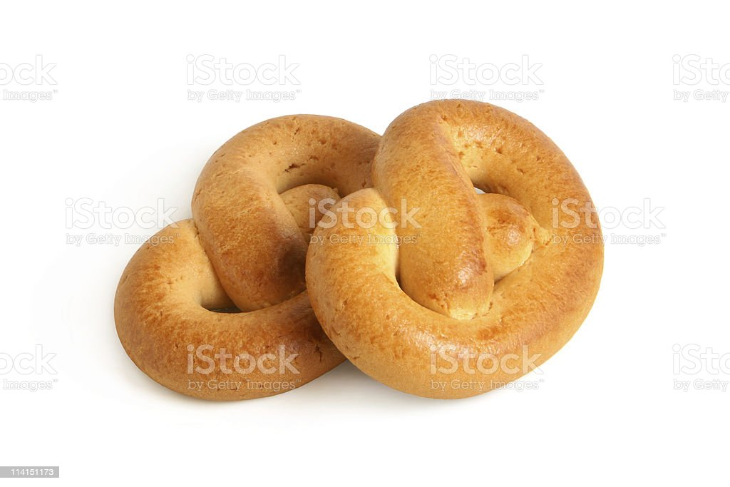 Knot-shaped biscuits royalty-free stock photo