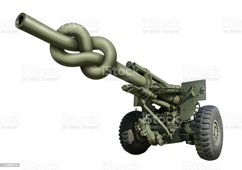 Knotted Gun stock photo