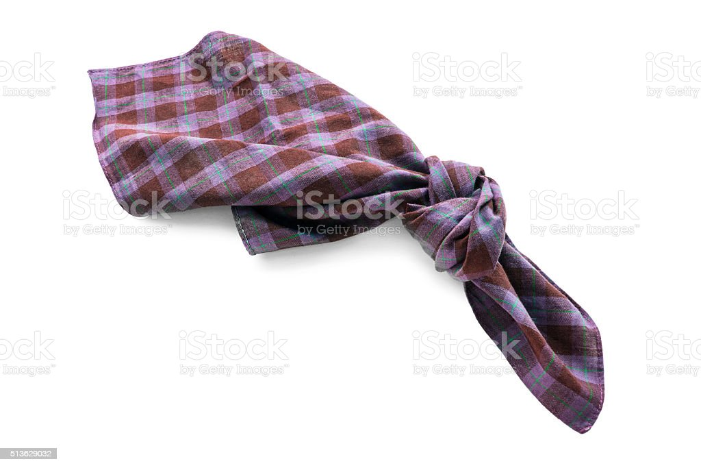 Knotted handkerchief stock photo