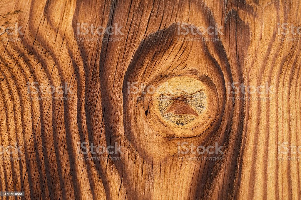 Knotted Wood royalty-free stock photo