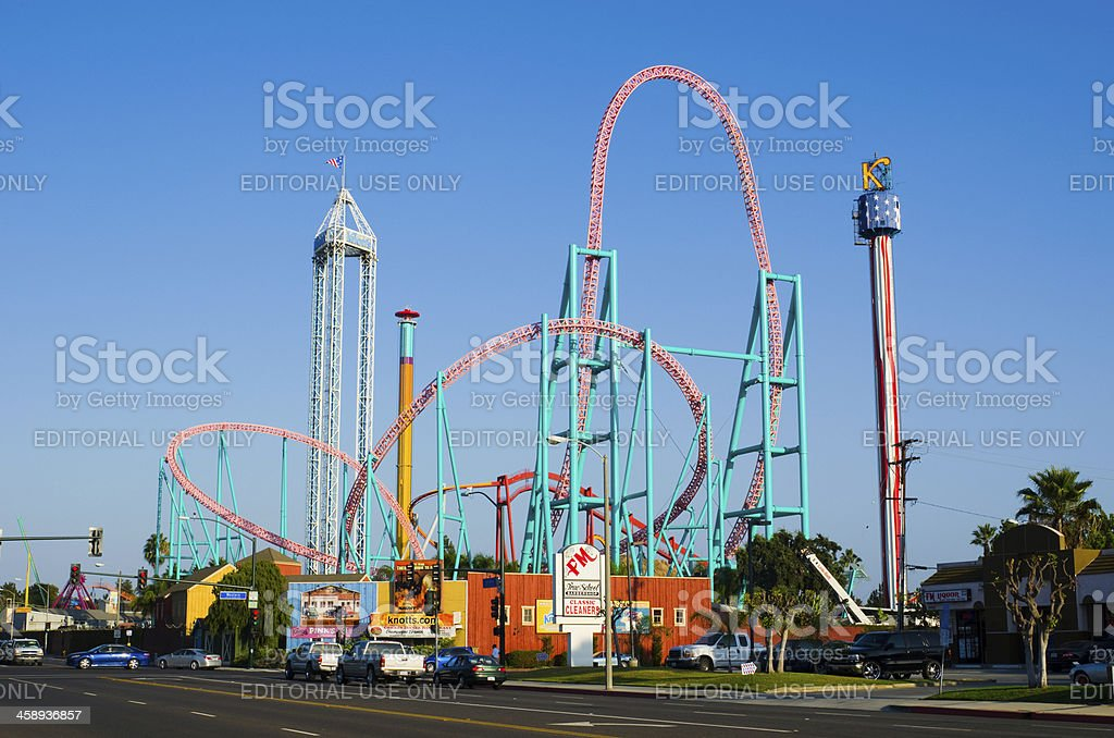 Knotts Berry Farm skyline view stock photo