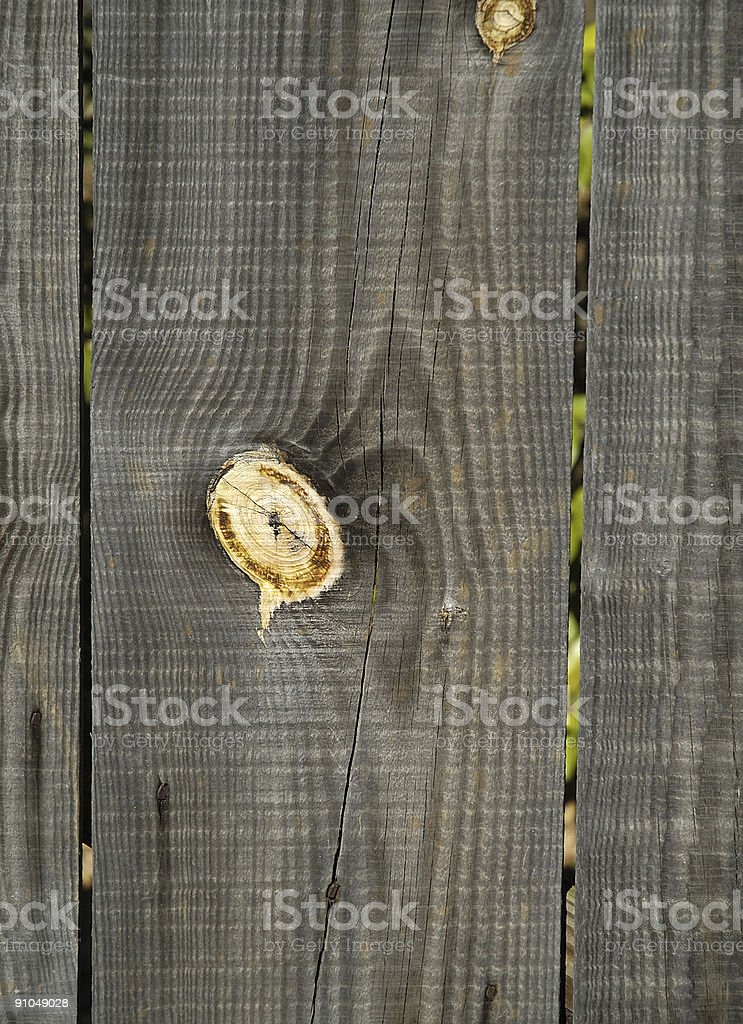 Knotty pine fence plank royalty-free stock photo