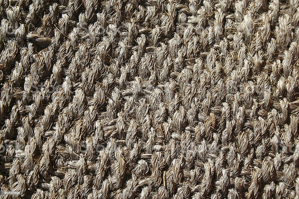 Knotty Rug with Detailed Rope Texture royalty-free stock photo