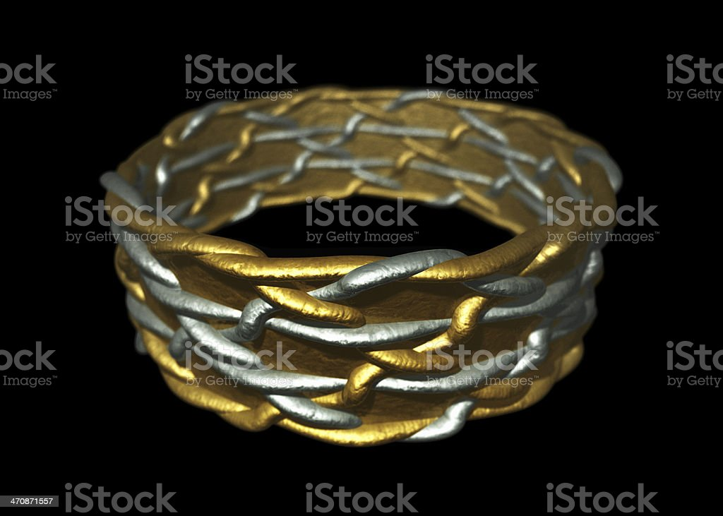 Knotwork Wedding Ring stock photo