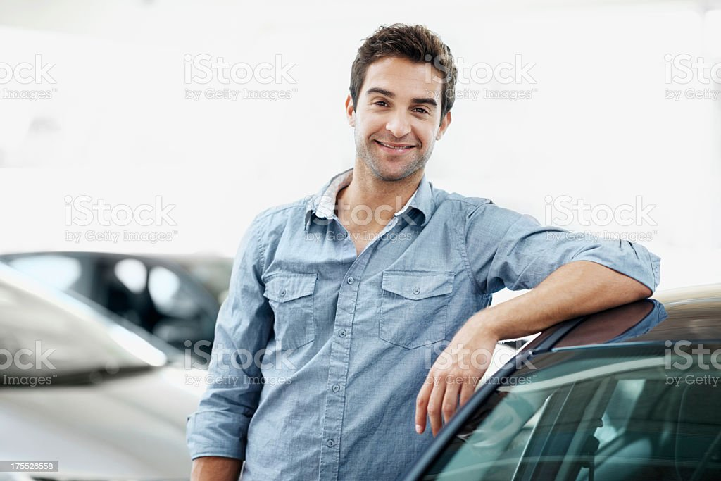 I know all about buying a car stock photo