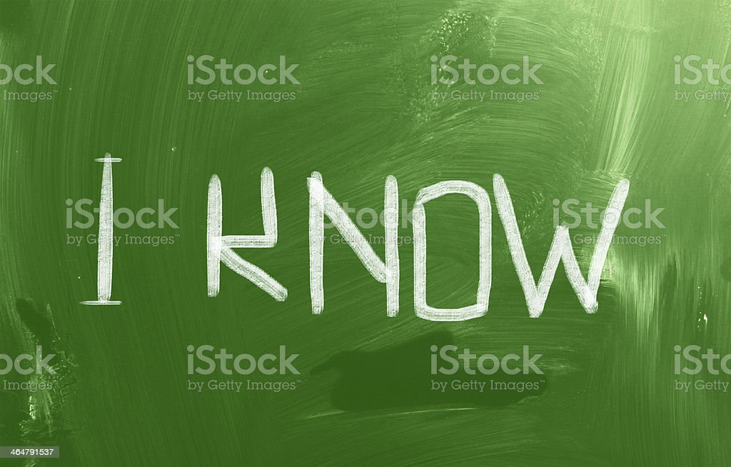 I Know Concept royalty-free stock photo