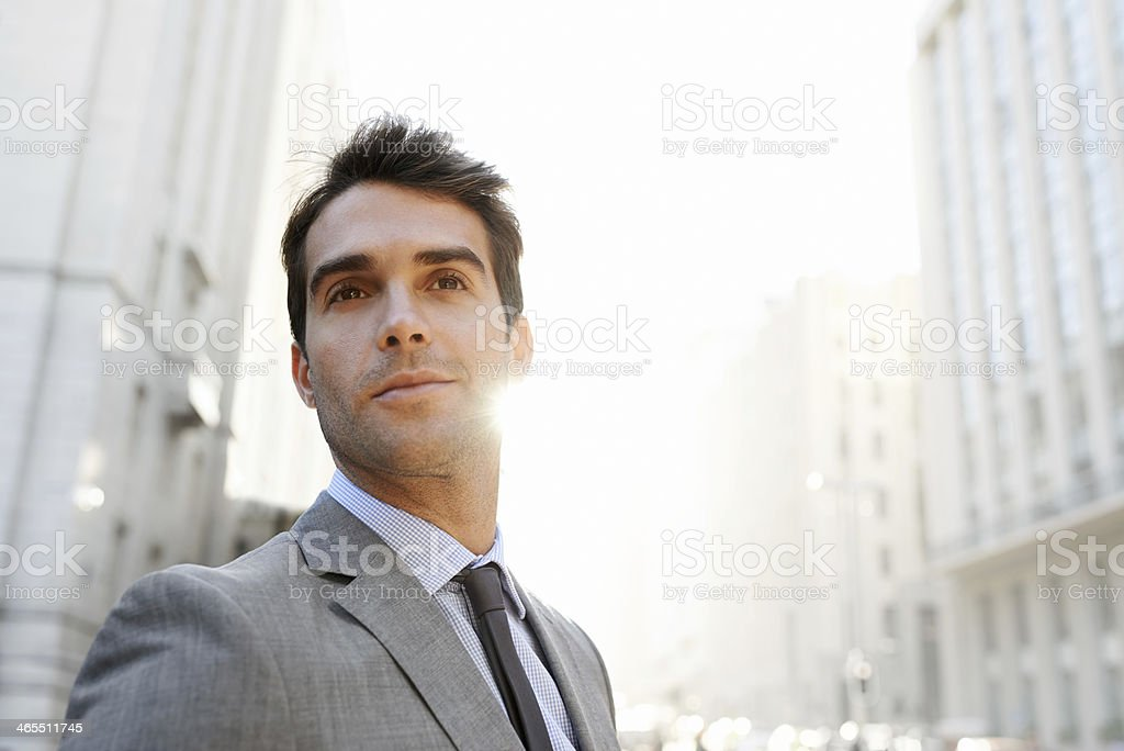 I know I'm headed for success! royalty-free stock photo