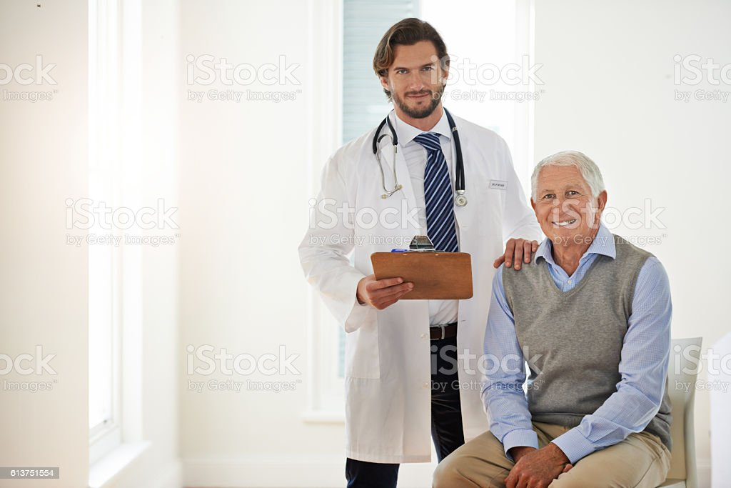 I know I'm in good hands with my doctor stock photo