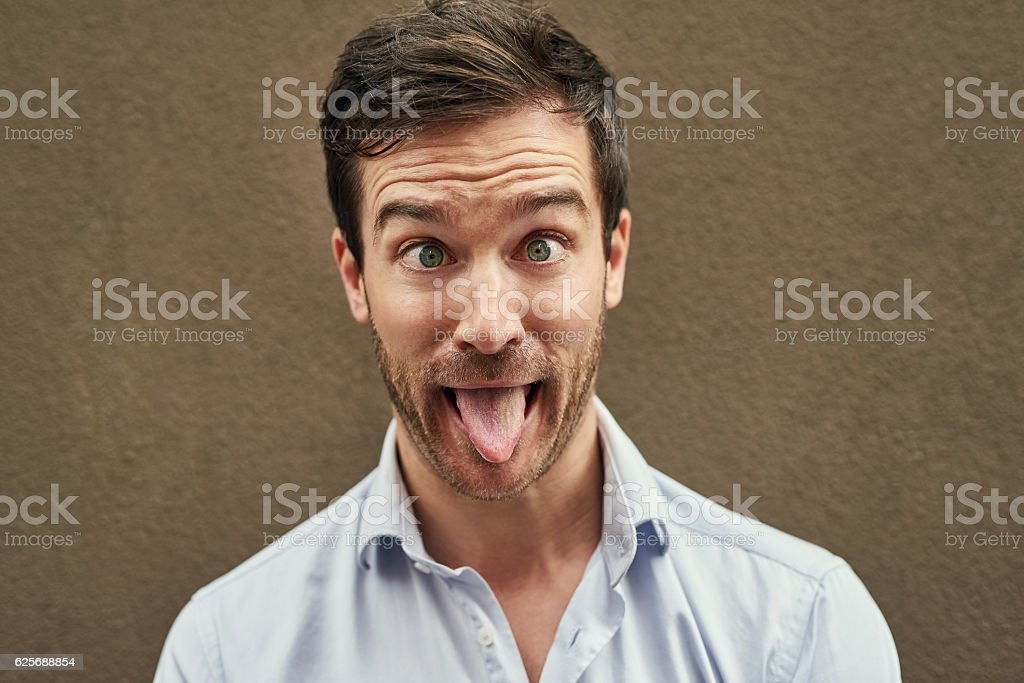 I know just how to crack you up stock photo