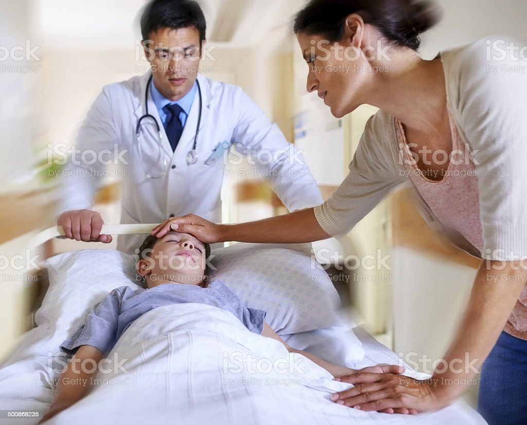 I know my little boy will be alright stock photo