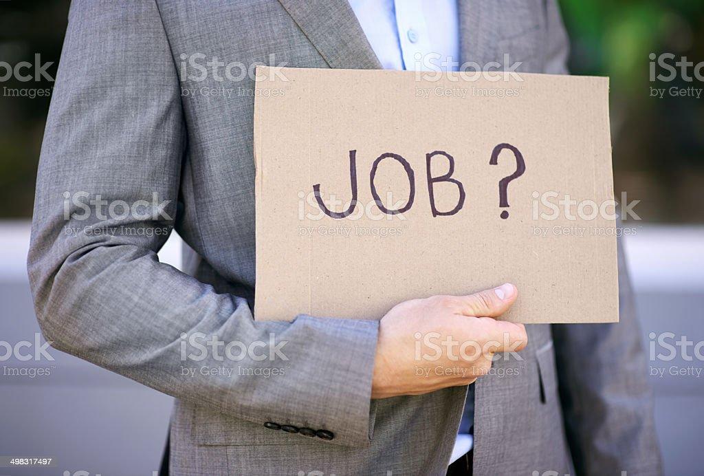Know of any vacancies? stock photo
