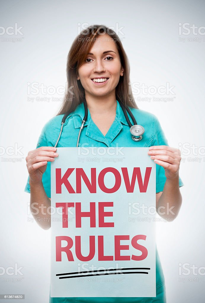 Know the rules / Medicine concept (Click for more) stock photo