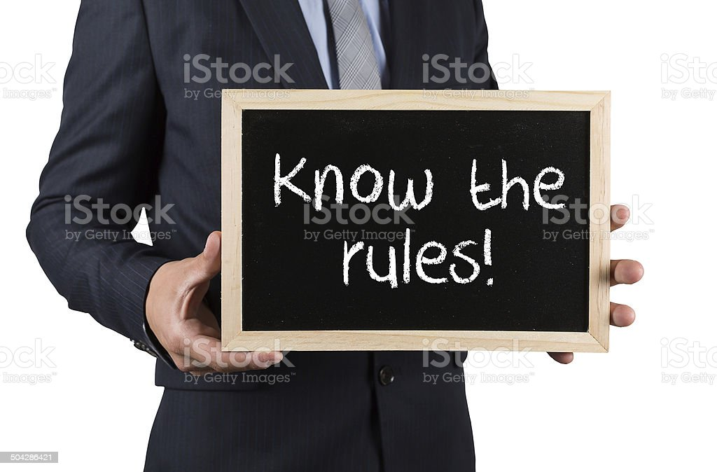 Know the Rules! stock photo
