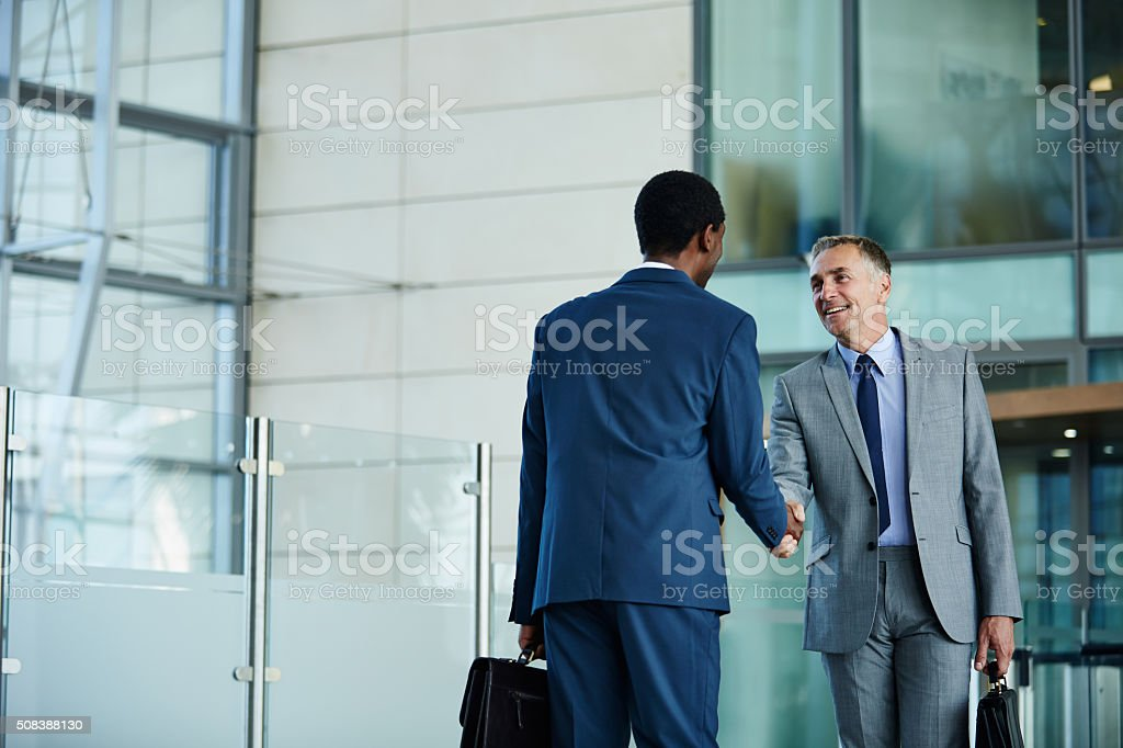 I know you'll be a great addition to the company stock photo