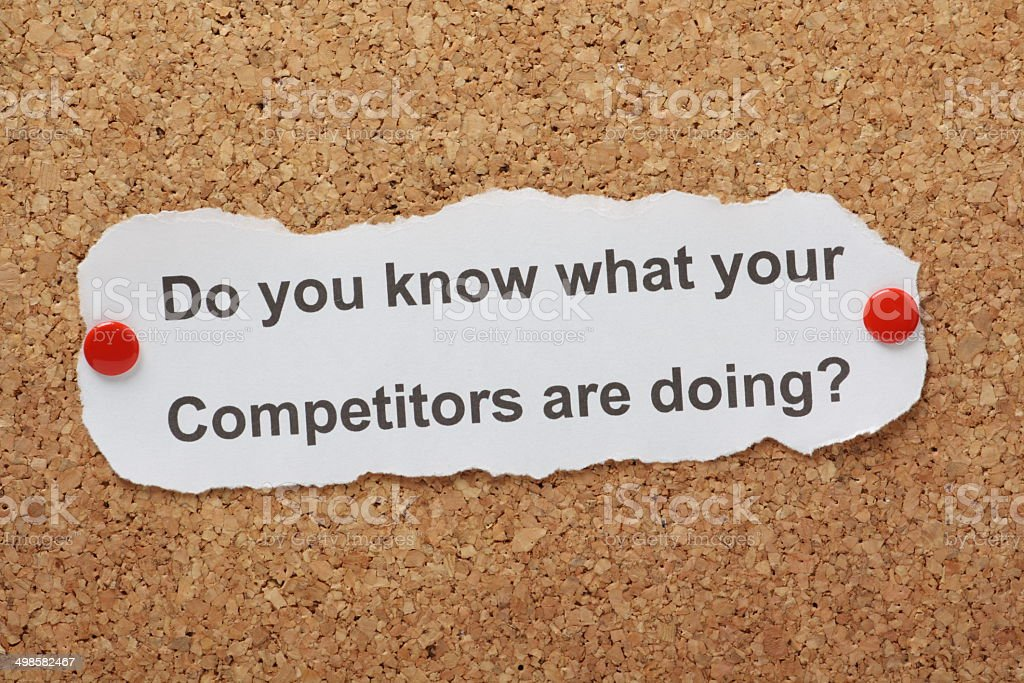 Know Your Competition stock photo