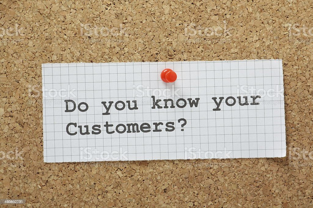 Know Your Customers stock photo