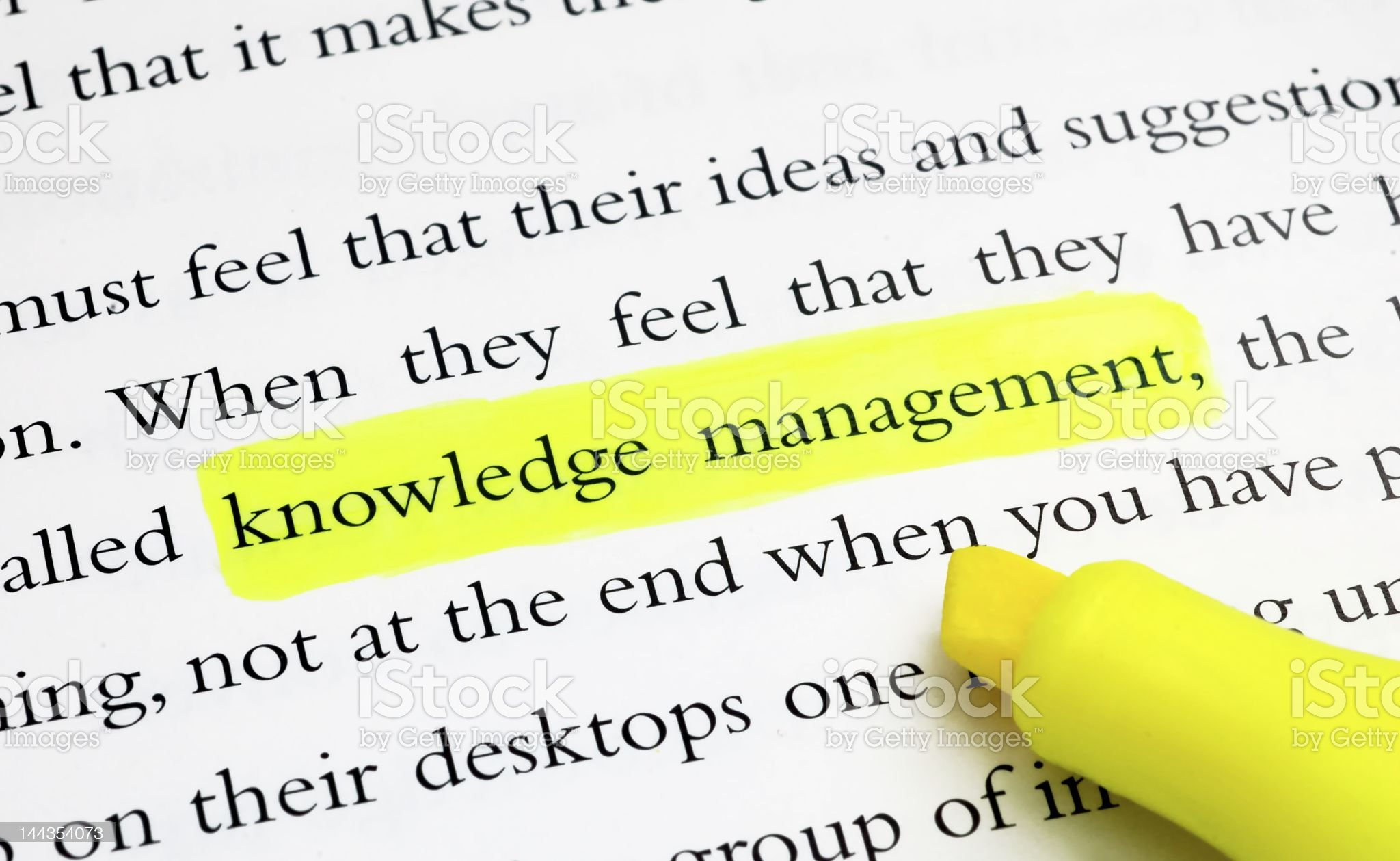 Knowledge Management royalty-free stock photo